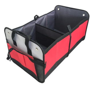Trunk Organizer for Car, Red/Grey