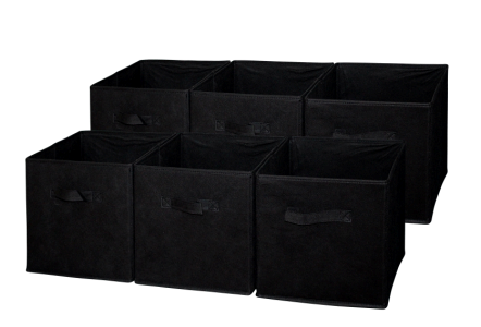 Sodynee Foldable Cloth Storage, 6 Pack, Black