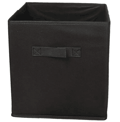 Sodynee Foldable Cloth Storage Cube Basket, Set of 6, Black