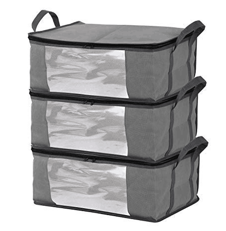 Sodynee SSB63GREY-2.0 Bins Bags Sweater, Clothes Containers, Closet Organizers and Storage, Light Gray